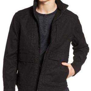 NWT Tunellus Black 'Linen Blend Zip Jacket' XL